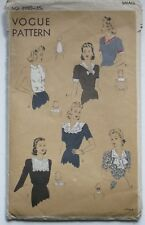 Vintage 1940s Vogue 8980 ACCESSORY SET Sewing Pattern Collar Gilet Bib Jabot