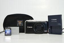 Canon PowerShot SX230 HS 12.1MP Digital Camera - Black - w/ Case + 8GB SD Card