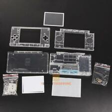 Clear Replacement Housing Shell Case Screen Lens Kit For Nintendo DS Lite