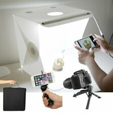 "16"" Foldable Lighting Cube Tent Soft Box LED Light Photo Studio Background Kit"