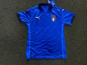 Puma Italy Authentic Home Soccer Jersey- 2020/21