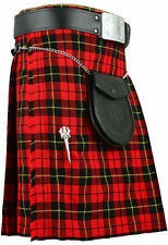 Vêtements traditionnels kilt rouge