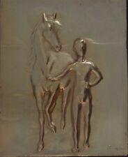 Pablo Picasso Ragazzo con cavallo, bassorilievo argento/oro numerato