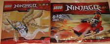 2x Lego Ninjago! Roter Ninja Kai und Weisser Ninja Zane mit viel Zubehör OVP