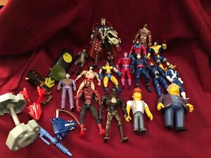 Action Figuren Konvolut X-Men, Batman, Spiderman, Simpsons - Marvel & DC