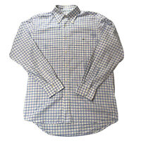 Lacoste Blue and White Chequered Shirt | SIZE 41 L Large