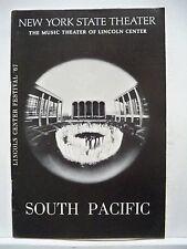 SOUTH PACIFIC Playbill FLORENCE HENDERSON / GIORGIO TOZZI / IRENE BYATT NYC 1967