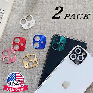 2PCS iPhone11 Pro MAX Full Cover Metal Camera Lens Protector Ring Slim Film