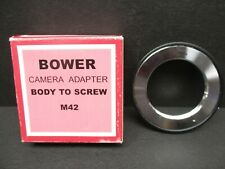 Bower M42-FD Pentax M42 screw to Canon FD lens adaptor made in Japan