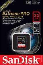 SanDisk 32GB SDHC Extreme Pro UHS-II U3 300MB/s SDSDXPK-032G 4K C10 32G SD Card