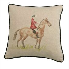 Huntsman Cushion Cover Country Collection Voyage Style Equestrian Horse Gift