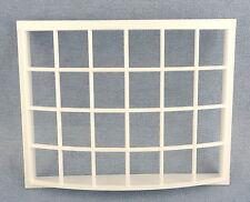 Casa de Muñecas Georgiano Bahía de Plástico Blanco Bow Window 24 Panel 1:12 Hazlo tú mismo Constructores