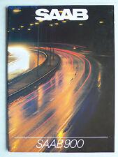 Prospekt Saab 900 GL/GLs/GLi/GLE/Turbo/CD Modelle 1983, 1982, 38 Seiten