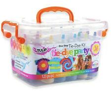 🕶🏝NEW Tulip Tie Dye Party Kit Tub 123 PIECES!! 18 COLORS! Tye Dye SUMMER🏝🕶