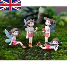 4 Piece Micro Landscape Mini Resin Bonsai Fairy DIY Garden Decor Flying Girl