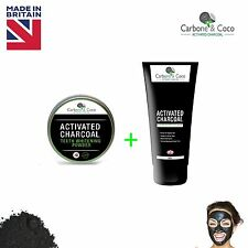 Carbone & Coco ™ carbón activado Puntos Negros Máscara + Blanqueamiento dental en polvo trato