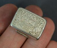 1826 Georgian English Silver Vinaigrette with Sponge