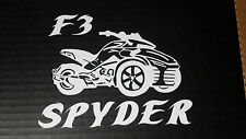 CAN-AM SPYDER  F3 WITH LETTERING- WINDOW DECAL / STICKER  - 13 colors