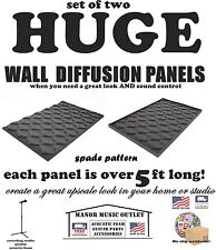 2 GIANT-SIZED Audio Acoustic SPADE recording studio foam sound deadening panels