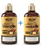 WOW Moroccan Argan Oil Shampoo and Conditioner - Pure Repairing Treatment 16.9oz