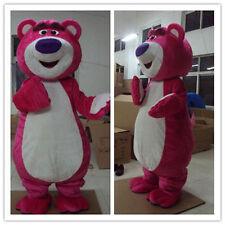 Pink Bear Lotso Mascot Costume Lots-O'- Huggin' Adults Cosplay Halloween Outfits