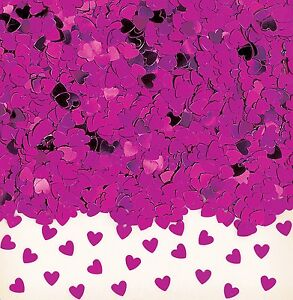 Sparkle Hearts | Pink Heart Wedding Table Confetti | Foiletti Decoration 14-84g