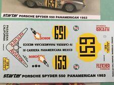 1/43 Decal, Porsche 550 spyder, #159 Fletcher Aviation, Panamericana 1953