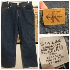 VTG Calvin Klein Double Stone Wash Jeans Bootcut  14 - W 36 x L 32 Men's Women's