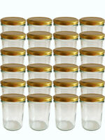 150 Mini Sturzgläser 30 ml Marmeladengläser Einmachgläser Einweckgläser Gold