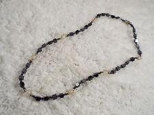 Hemetite Glass Bead Necklace (A73)
