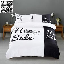 Couples His/Her Side Doona/Duvet/Quilt Cover Set Queen/King/Double Size Bed Set