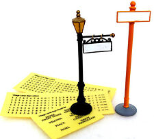 Dept. 56 Personalize Your Village Lamp Post & Street Sign plus Labels 52811