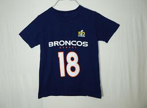 Peyton Manning Denver Broncos Super Bowl NFL Football Boys T Shirt YOUTH SMALL 8