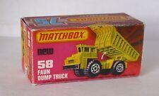 Repro Box Matchbox Superfast Nr.58 Faun Dump Truck