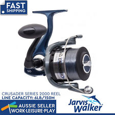 Jarvis Walker Crusader 2000 With Line Spin Reel Spinning Fishing Tackle