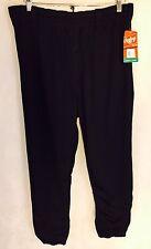 NWT Rawlings Men's Pull Up BEP31 Black Large Mens Baseball/Softball Pants