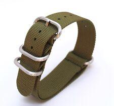 Khaki/ Army green Nylon Nato style watch strap - 22mm suit Seiko/Omega/Rolex