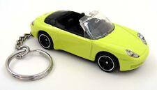 Custom Keychain Porsche 911 Carrera Cabriolet Yellow & Black Key Chain Ring Fob