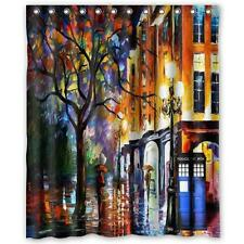 Colorful Doctor Who Tardis Art Waterproof Bathroom Shower Curtain 180 x 150cm