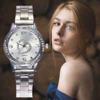 Luxury Womens Ladies Steel Stainless Analog Quartz Round Wrist Watch Watches New