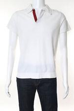 Prada Sport Mens White Cotton Short Sleeve Polo Shirt Size Small