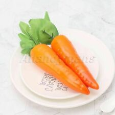 3x Lifelike Artificial Carrot Model Fake Vegetables Fruit Props Home Party Decor