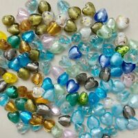 Wholesale 50 Pcs 12mm Heart Lampwork Top quality glass beads for jewelry DIY