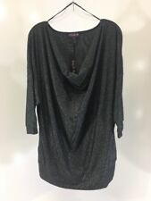 ae2adfd719a Long Tall Sally Women's Sparkle Cowl Neck Top Black/silver Large