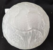 VINTAGE CONSOLIDATED GLASS COVERED POWDER / CANDY JAR - PARAKEETS