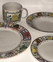 Rare Happy Everything Dinnerware Sets, Dish Set, Porcelain Plates And Bowls Set
