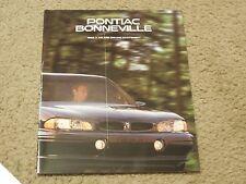 1996 Pontiac Bonneville Dealer Auto Show Sales-Showroom Brochure SE, SSE