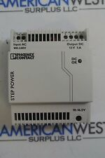 Phoenix Contact STEP-PS/1AC/120C/5 100-240 VAC to 12 VDC Power Supply
