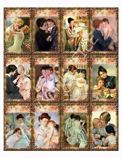 12 Vintage Mother and Child Hang Tags Scrapbooking Paper Crafts (62)