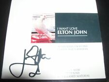 Elton John I Want Love Australian Collectors Signature (Printed) Digipak CD